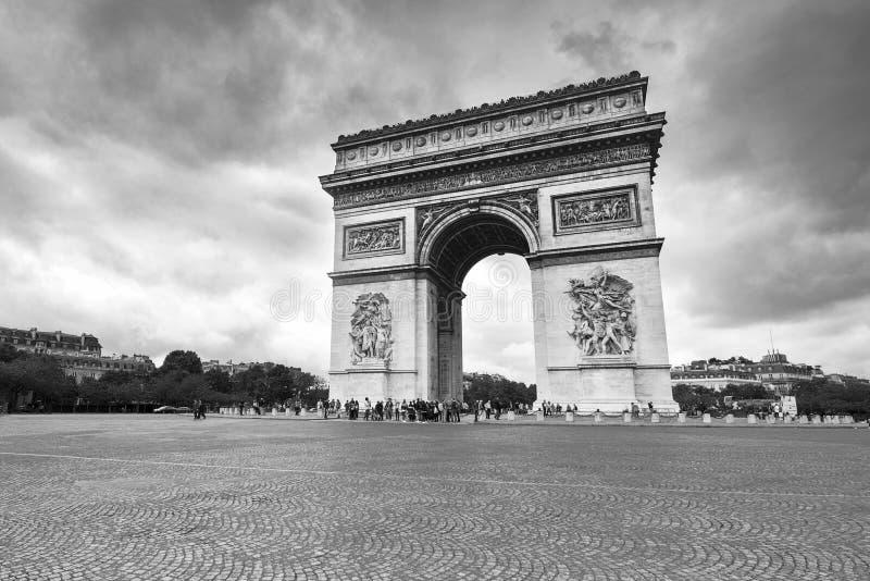 Arc de Triumph. In the city centre. Arc de Triumph. Paris, France stock photo