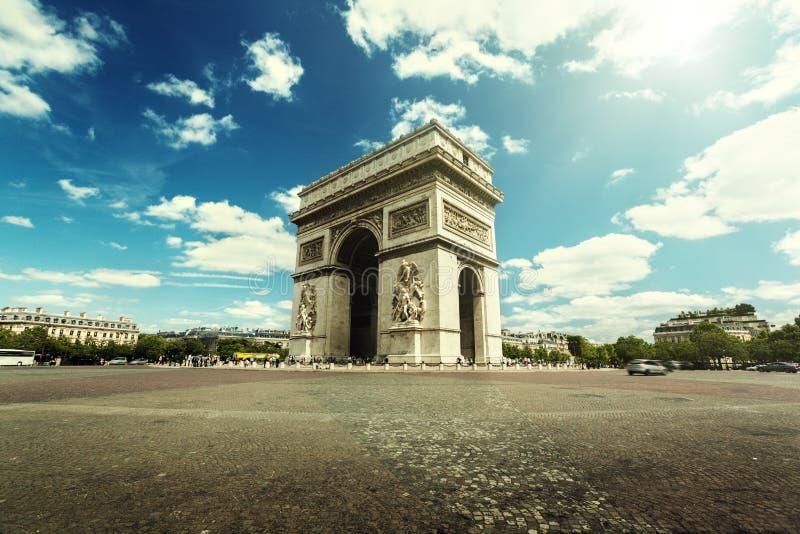 Arc de Triumph, Paris stockfotografie