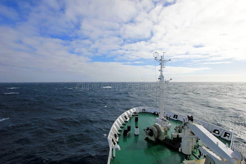 Arc du ` s de bateau, Antarctique image libre de droits
