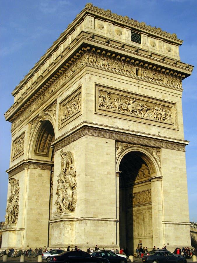 Arc du Triomphe 17 stock photo