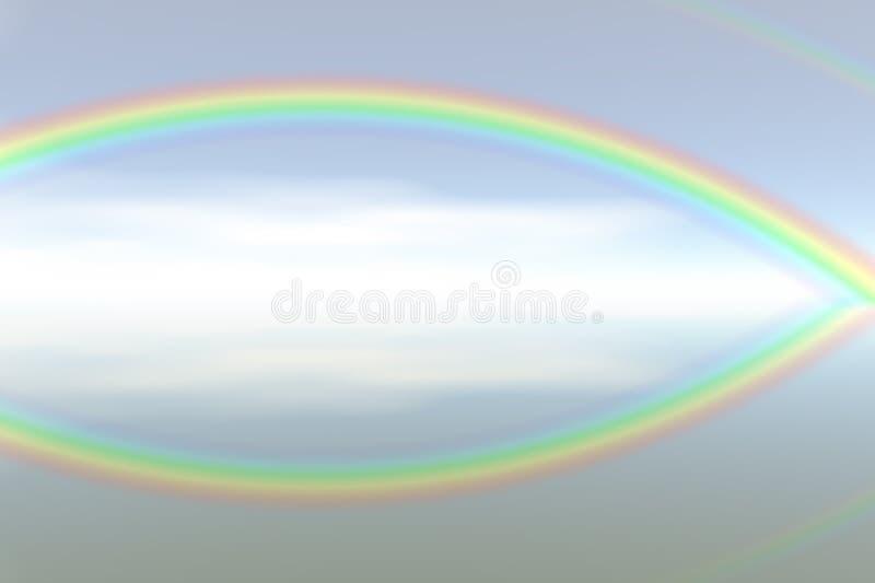 Arc-en-ciel abstrait de couleur illustration stock