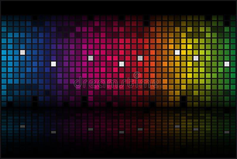 Arc-en-ciel abstrait - fond coloré illustration de vecteur