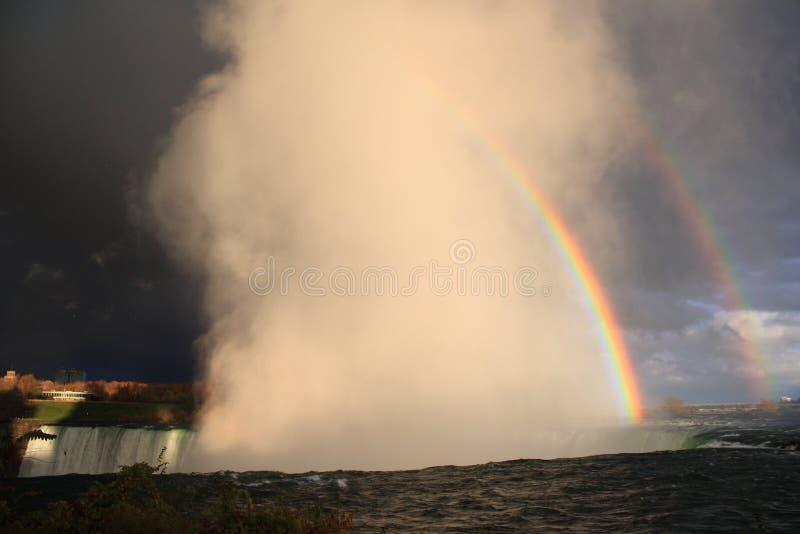 Arc-en-ciel au-dessus de Niagara images libres de droits