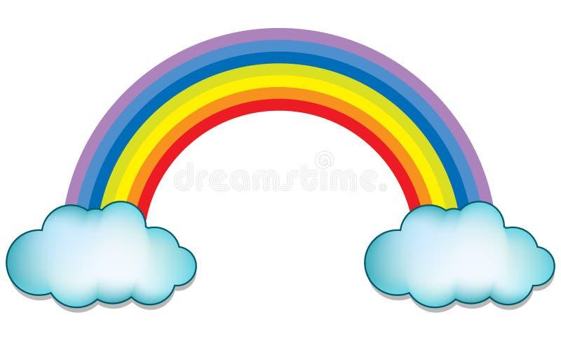 Arc en ciel avec le nuage illustration stock illustration - Image arc en ciel gratuite ...