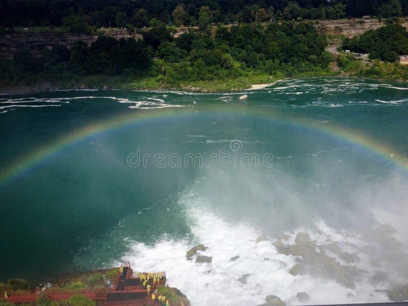 Arc-en-ciel chez Niagara Falls images libres de droits