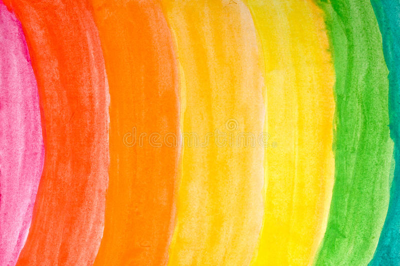 Arc-en-ciel d'aquarelle images libres de droits