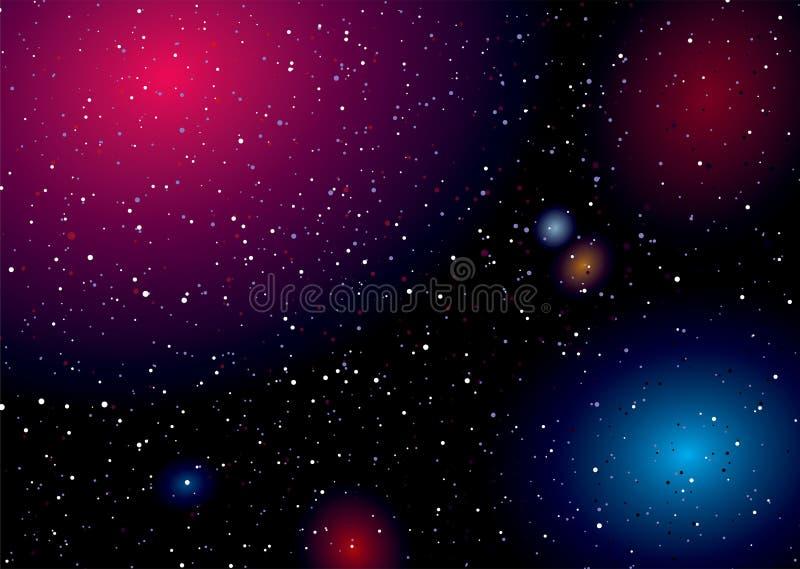 Arc-en-ciel d'horizontal de l'espace illustration stock