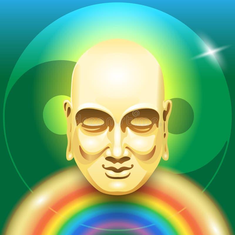 Arc-en-ciel de Bouddha illustration libre de droits