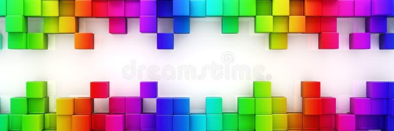 Arc-en-ciel de fond abstrait de blocs colorés illustration libre de droits