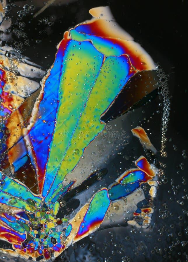 arc-en-ciel de glace de cristaux photos stock