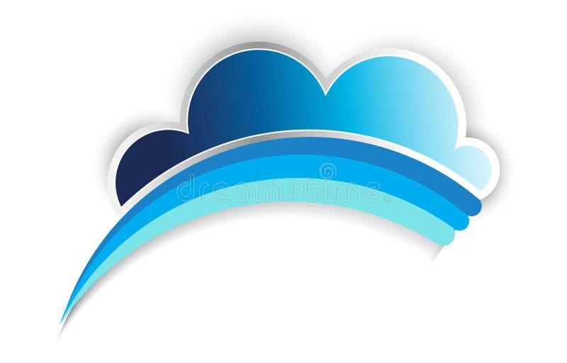 Arc-en-ciel de nuage illustration libre de droits