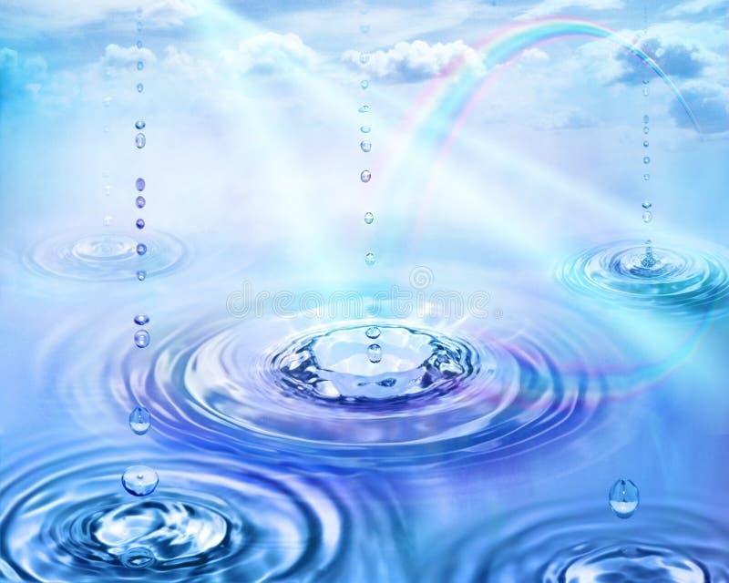 arc-en-ciel de pluie illustration stock