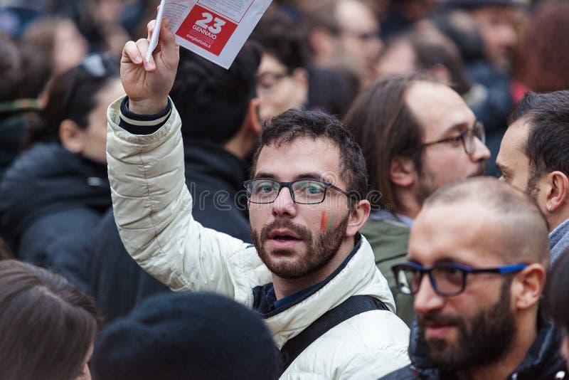 Arc-en-ciel de protestataire images libres de droits