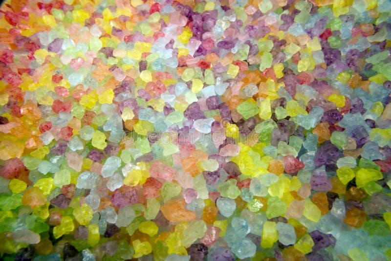Arc-en-ciel des sels de Bath photo libre de droits
