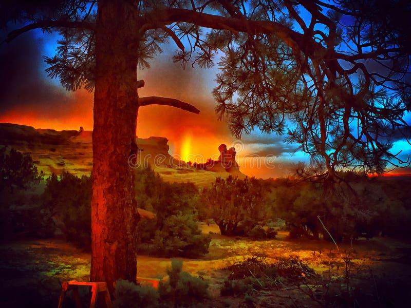 Arc-en-ciel du Nouveau Mexique images stock