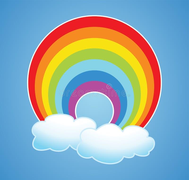 arc-en-ciel et nuages de vecteur illustration de vecteur