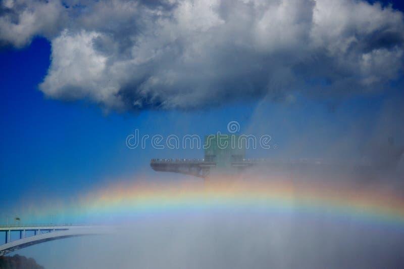 Arc-en-ciel et pont en arc-en-ciel photos stock