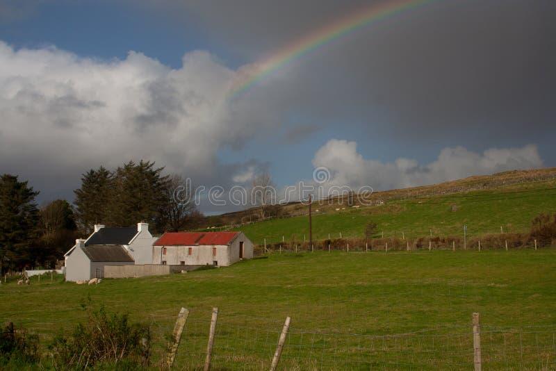 Arc-en-ciel irlandais images libres de droits
