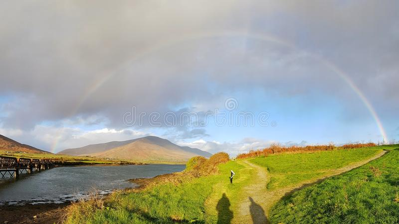 Arc-en-ciel irlandais photos libres de droits