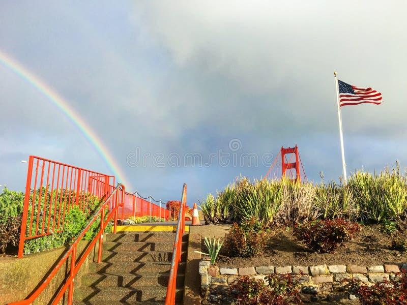 Arc-en-ciel, porte d'or à San Francisco photo stock