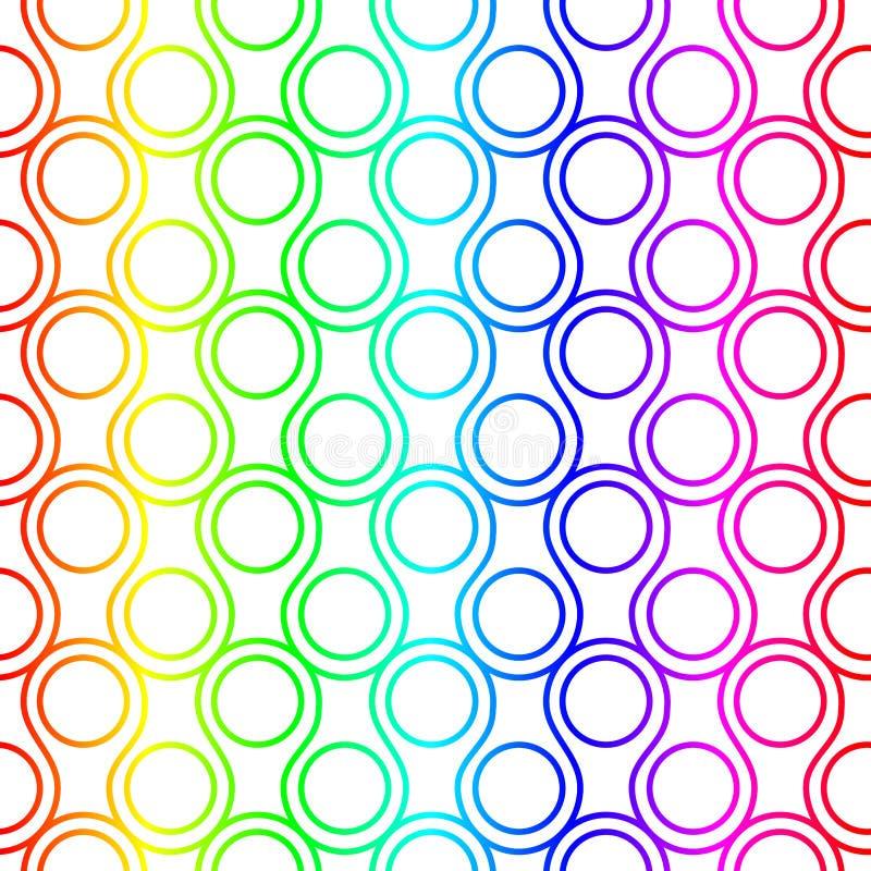 Arc-en-ciel Ring Scales Seamless Pattern illustration stock