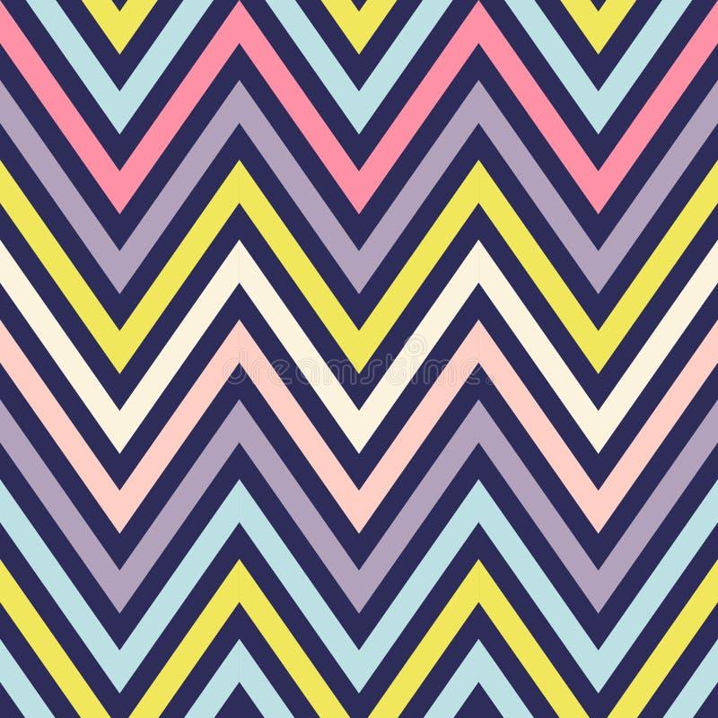 Arc-en-ciel sans couture Chevron de fond de vecteur zigzag illustration de vecteur