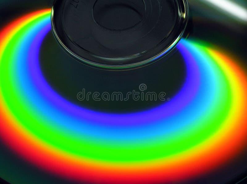 Arc-en-ciel sur le CD image stock