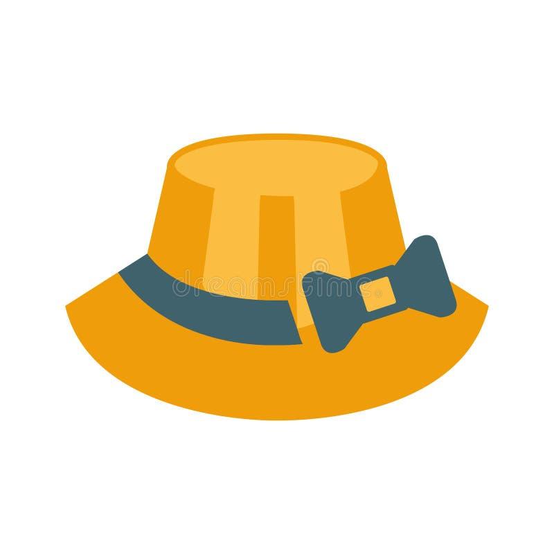 Arc femelle de Straw Hat With Ribbon And, une partie de série de vacances de plage d'été d'illustrations illustration libre de droits