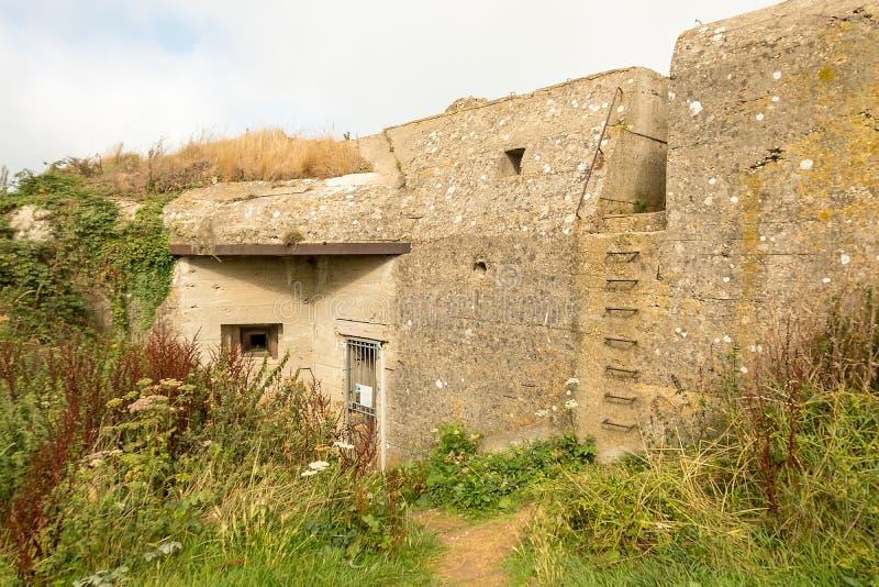 Arc?n de la Guerra Mundial del alem?n Segundo cerca de Fecamp en Normady, Francia fotografía de archivo libre de regalías
