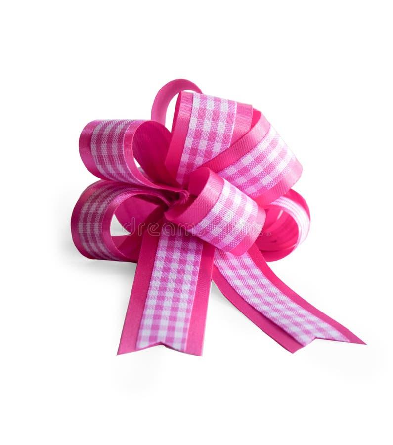 Arc rose de cadeau images libres de droits