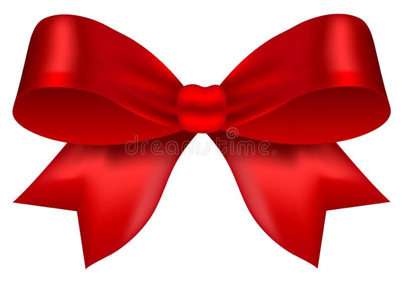 Arc rouge mignon de velours illustration de vecteur