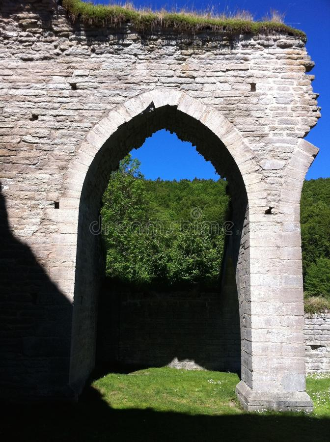 Arc of a ruin stock image