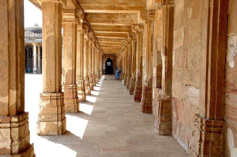 Arc at Sarkhej Roja, Ahmedabad, India. HISTORICAL IMPORTANCE Sarkhej Roza comprises one of the most elegant and unique architectural complexes of Ahmedabad. In stock photos