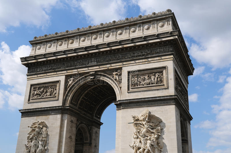 Download Arc-the-Triomphe Paris stock image. Image of france, holiday - 17377691