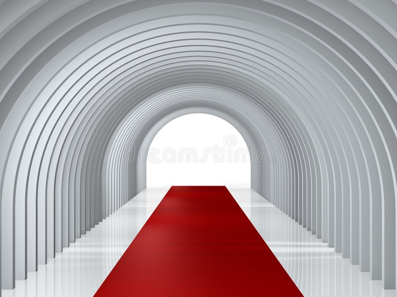 Arc tunnel. To success entrance background vector illustration