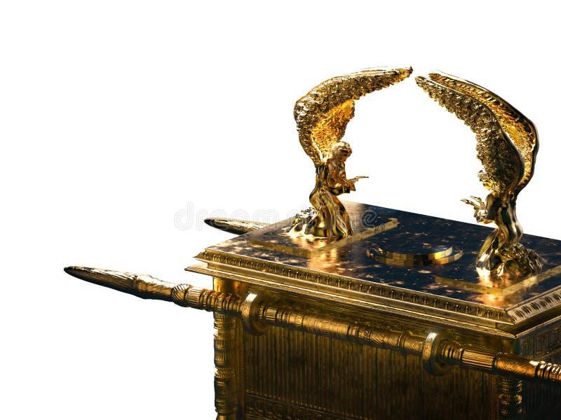 Arca de la Alianza aislada en blanco/el ejemplo 3D fotografía de archivo libre de regalías