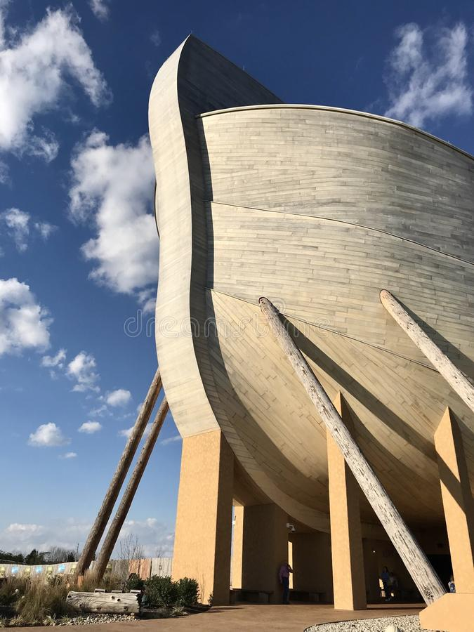 Arca del ` s di Noè esteriore nel parco a tema di incontro dell'arca immagine stock