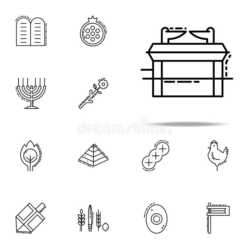 Arca do ícone da obrigação contratual Grupo universal dos ícones do judaísmo para a Web e o móbil ilustração royalty free
