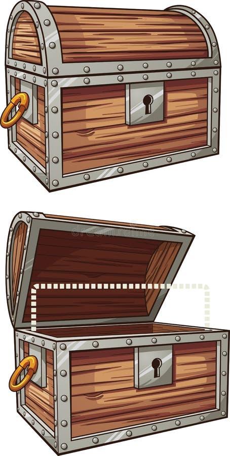 Arca do tesouro ilustração royalty free