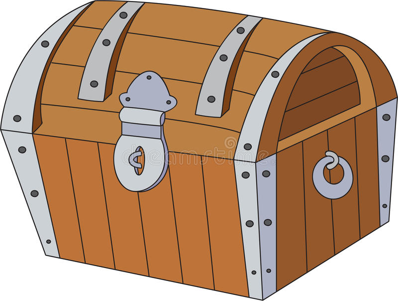 Arca do tesouro com ouro ilustração royalty free