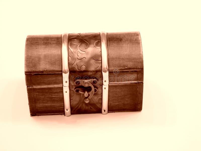 Arca do tesouro fechado foto de stock
