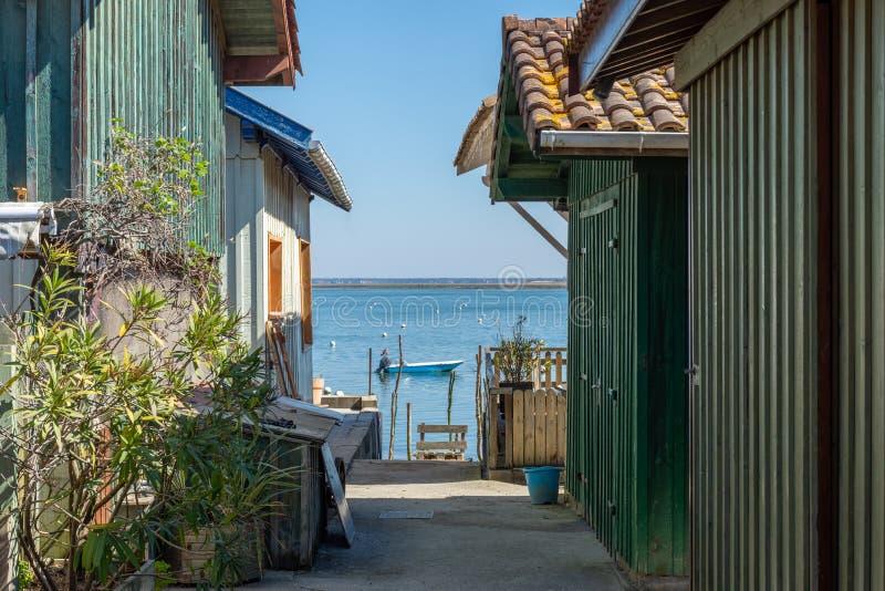 Arcachon-Bucht, Frankreich E lizenzfreie stockfotos