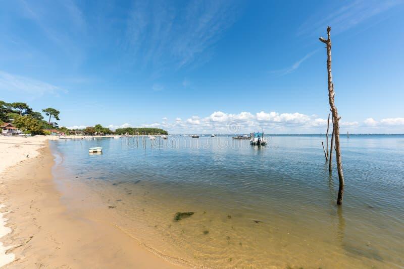 Arcachon-Bucht, Frankreich, ein Strand nahe Cap Ferret stockfoto