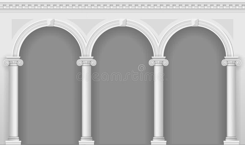 Arcada branca antiga ilustração royalty free