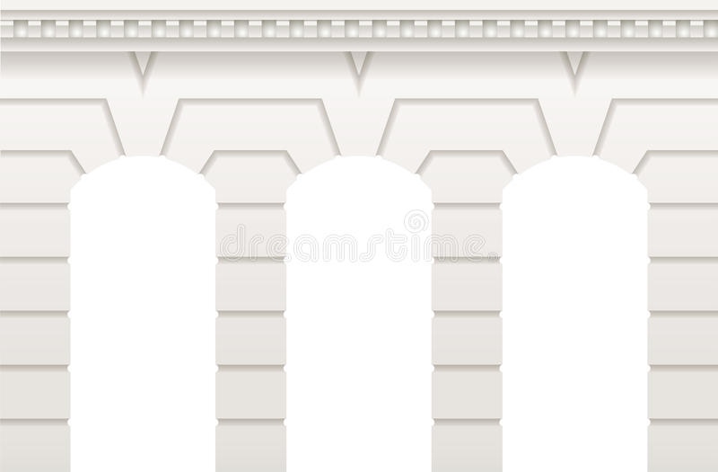 Arcada branca antiga ilustração stock