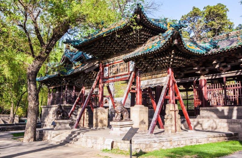 Arcada de Duiyue en el templo del monumento de Jinci imágenes de archivo libres de regalías