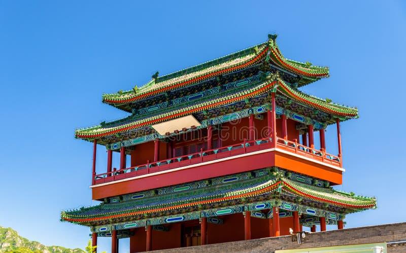 Arcada de Guoji, la entrada en la Gran Muralla de Juyongguan, China fotografía de archivo