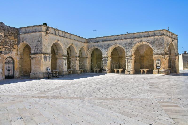 Arcada de St. Jorge. Melpignano. Puglia. Italia. imagenes de archivo