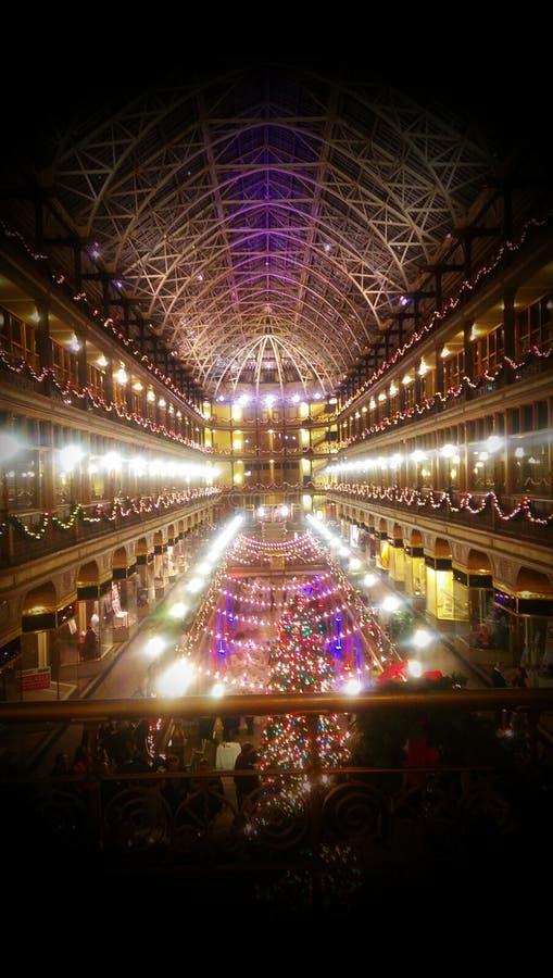 Arcada do Natal imagem de stock royalty free