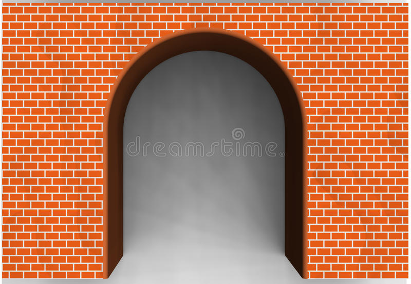 Arcada do tijolo vermelho imagem de stock